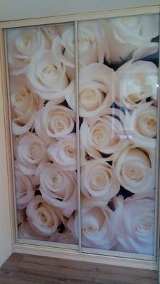 Шкаф купе с фотопечатью роз