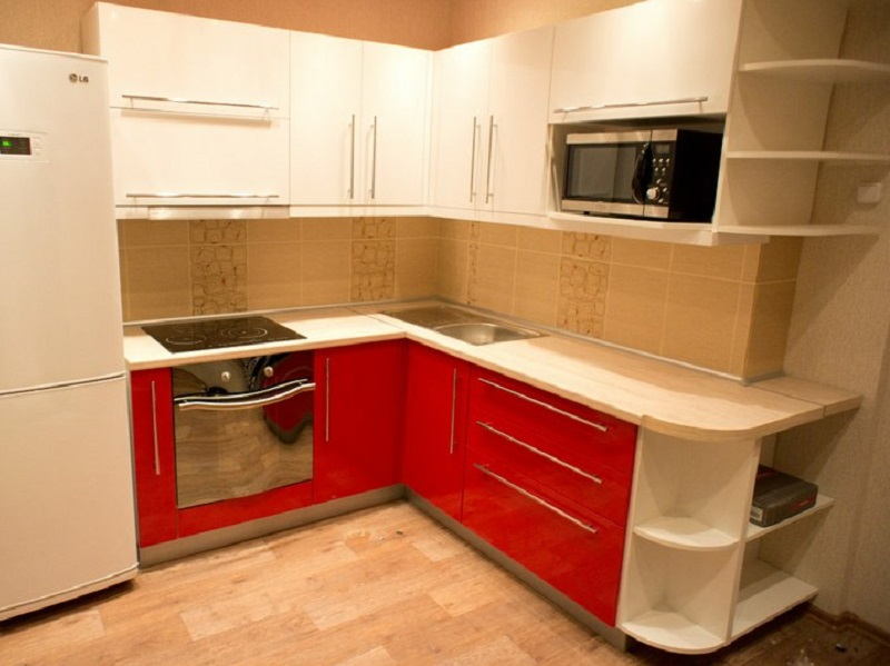 кухня из акрила Брило