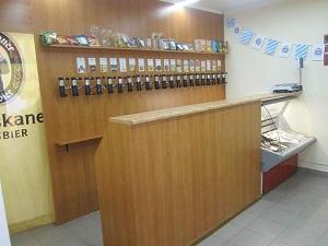 Барная стойка для магазина разливного пива