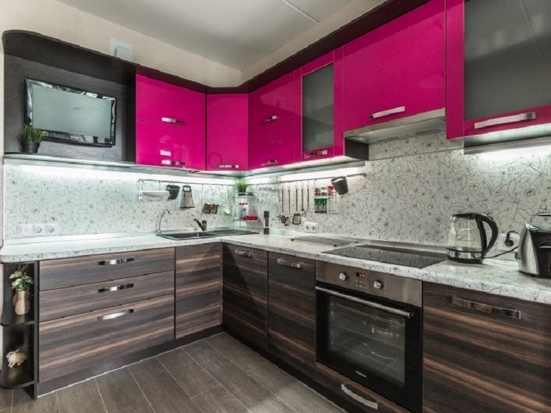кухня из пластика Флавия