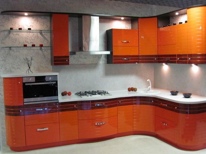 Глянцевая кухня из эмали Фонтиза