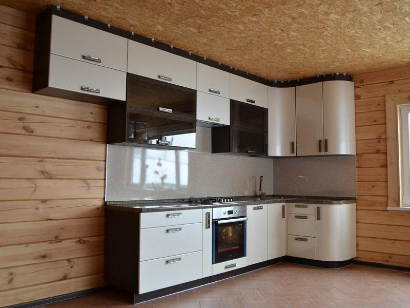 Встроенная кухня МДФ эмаль Нелли
