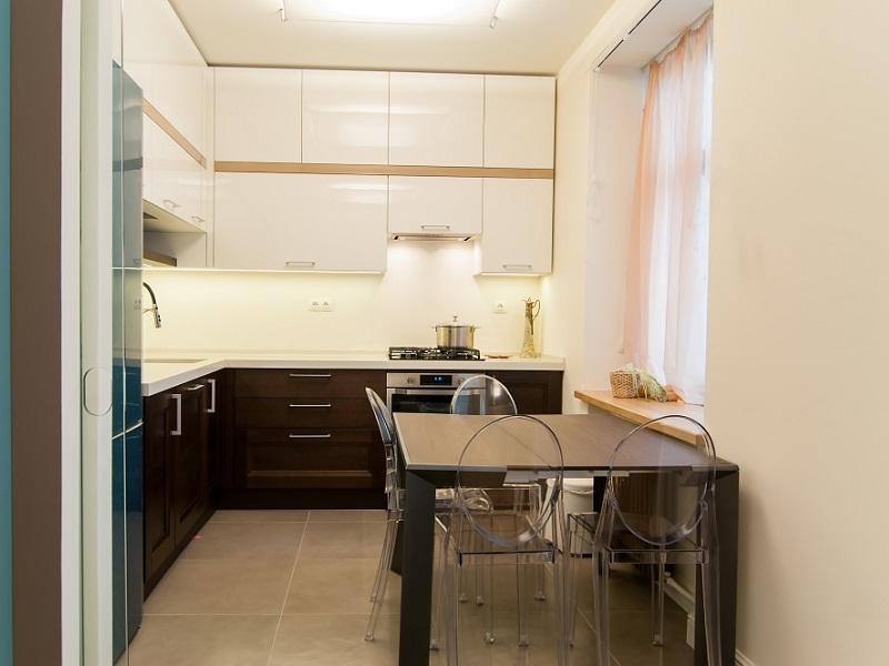Кухня до потолка МДФ эмаль Римма