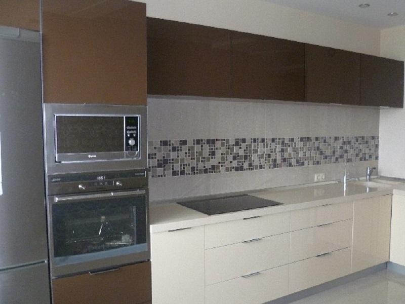 Встроенная угловая кухня МДФ эмаль Тереза