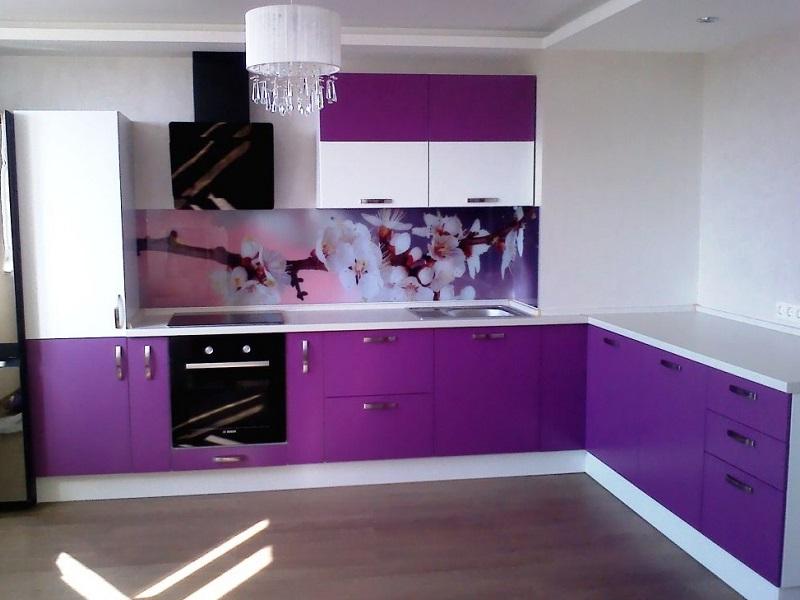 фиолетовая кухня из пластика тереза