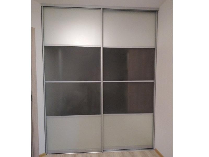 2 двери-купе стекло матовое
