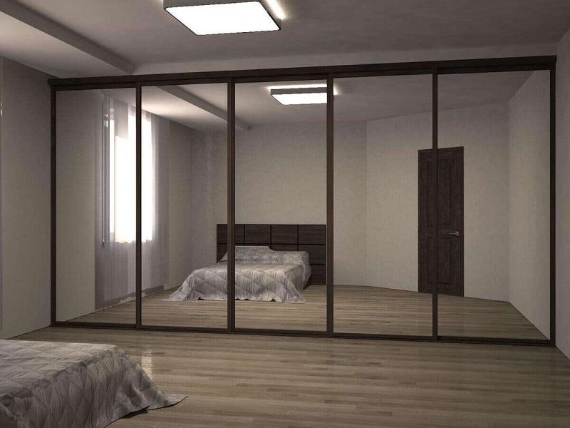 5 зеркальных дверей-купе