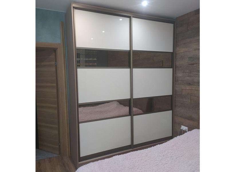 Двери-купе стекло с зеркалом бронза