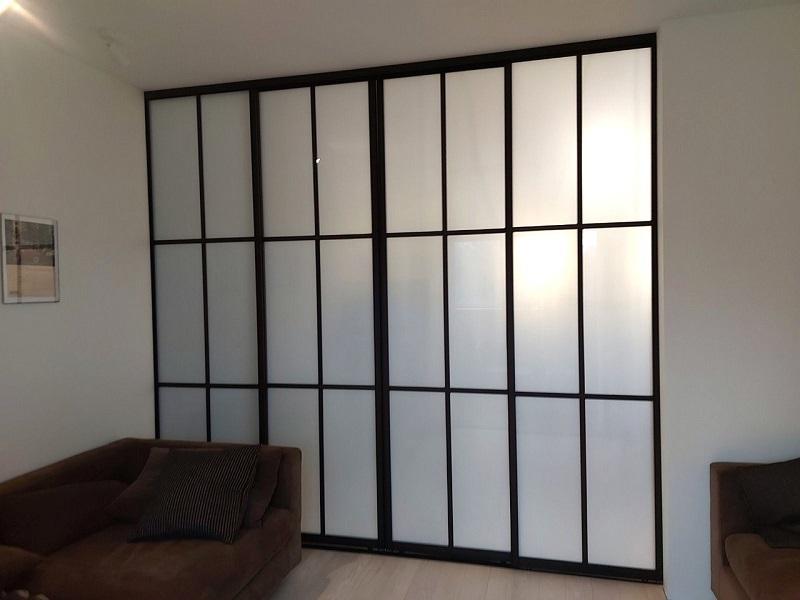 Алюминиевые перегородки со стеклом