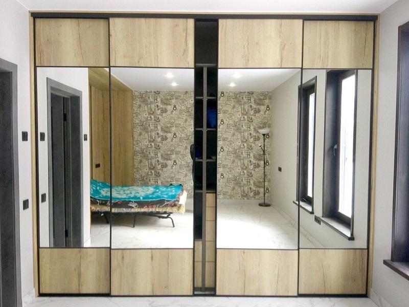 Двери-купе узкий профиль в спальню