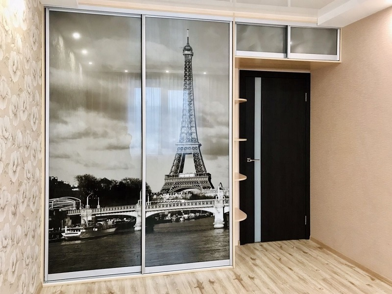 Двери-купе с фотопечатью Париж
